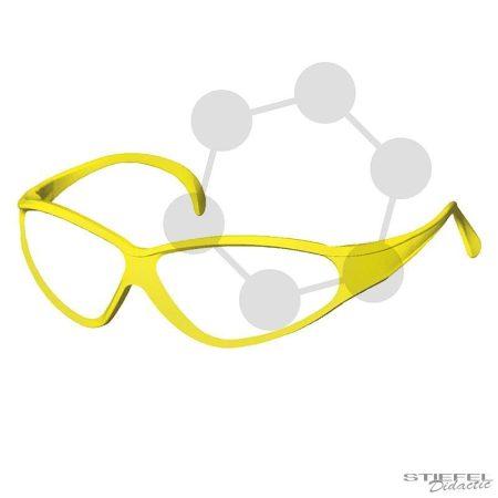 Védőszemüveg CE EN166, sárga