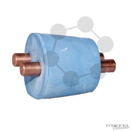 Rézelektród elektrolíziskamrához, 2 darab
