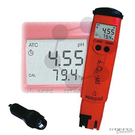 pH-, és °C-zsebmérő