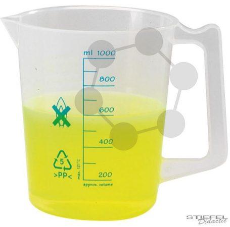 Mérőpohár fogantyúval, PP, 500 ml