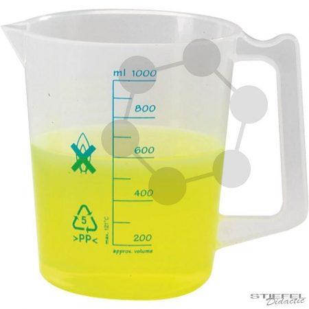 Mérőpohár fogantyúval, PP, 1000 ml