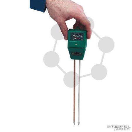 Kombi-talajmérő pH-nedvesség-Lux