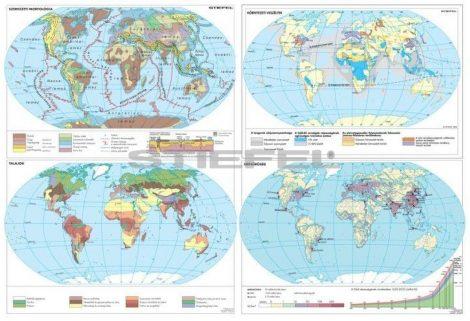 A Föld egyedi tematikus térképei (4 db / lap)