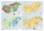 Magyarország tematikus térképek - genetikai talajtípusok, talajminőség, ár- és belvízvédelem, kinyert vizek és felszíni vizek minősége