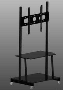 Guruló állvány interaktív érintőképernyőhöz laptop tartó polccal (magyar gyártmány)