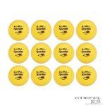 12 darabos sárga labda készlet 10,2 cm