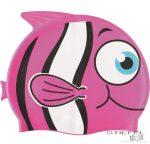 Állatmintás szilikon úszósapka - Rózsaszín Nemo