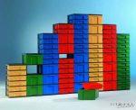 InBox tárolóelem, 43 cm magas, 2 db magas fiókkal
