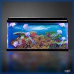 Nagyméretű szenzoros fényakvárium medúzákkal