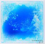 Folyadékkal töltött padlóelem - kék/fehér