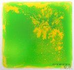 Folyadékkal töltött padlóelem - zöld/sárga
