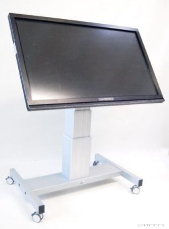 Állítható magasságú, vízszintesig dönthető guruló állvány LCD-khez