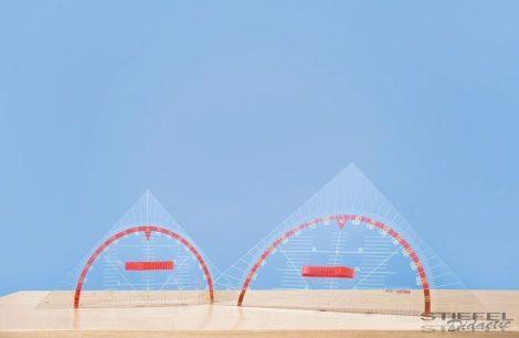 Szögmérős háromszögvonalzó (60 cm-es)