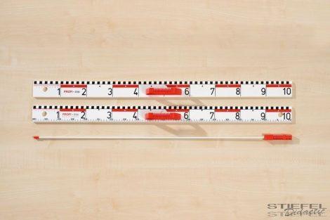 Vonalzó dm + cm beosztással, mágneses